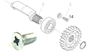 Aprilia RS125 Balance Shaft Retaining Screw