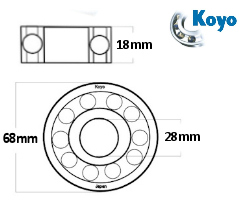Honda CR 500 R 1996-2001 Koyo Mains Crank Bearing /& Oil Seal Kit