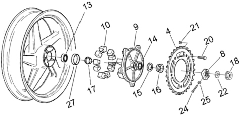 Honda 250 Rear Axle Diagram Html on wiring diagram of motorcycle honda