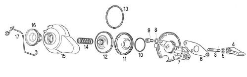 Rotax Max Power Valve Parts Rave 2 for the Rotax Max Kart Senior FR125 – Rotax Engine Parts List Diagram